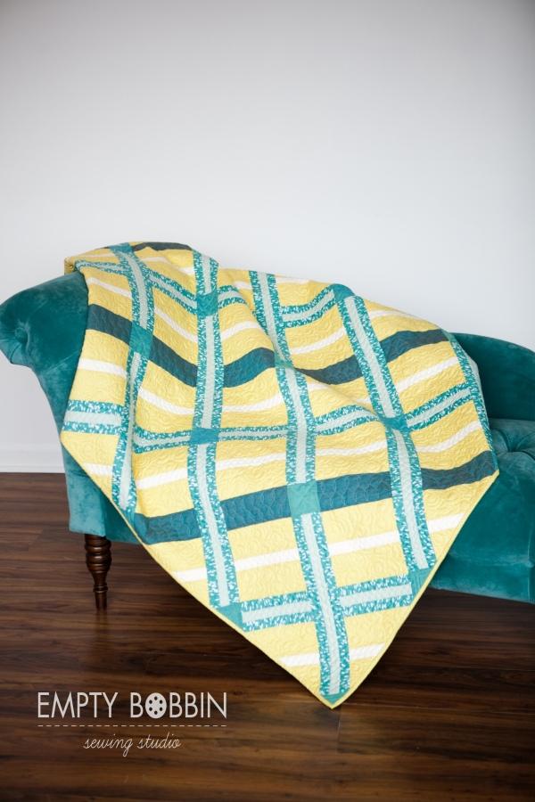 modern quilt pattern, modern quilt, empty bobbin, sewing pattern, crosshatch quilt